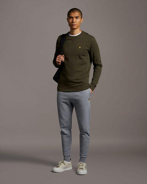 Lyle & Scott Skinny Sweatpants Mid Grey Marl