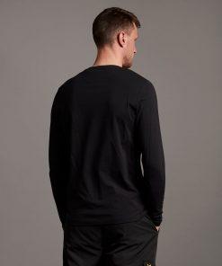 Lyle & Scott Plain L/S T-Shirt Jet Black