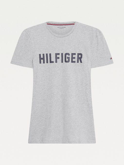 Tommy Hilfiger Lounge Logo T-shirt Mid Grey Heather
