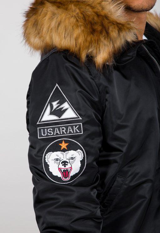 Alpha Industries MA-1 Hooded Arctic Black