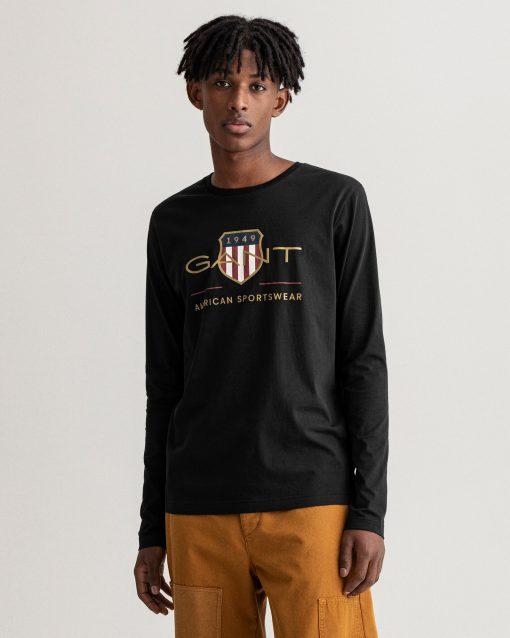 Gant Archive Shield Long Sleeve Black