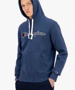 Champion Script Logo Hoodie Dark Turquoise