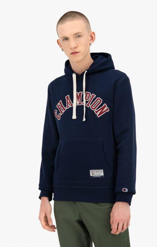 Champion Collegiate Logo Hoodie Dark Blue