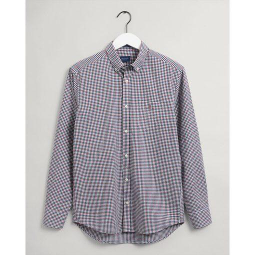 Gant Regular Fit 3-Color Gingham Broadcloth Shirt Carbernet Red