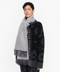 Marimekko Siime Scarf Black/Grey