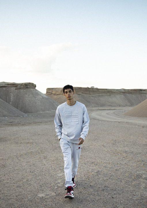 Billebeino Embossed Sweatshirt Light Grey