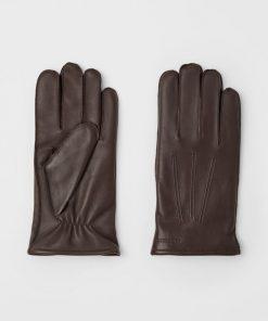 J.Lindeberg Milo Leather Gloves Umber Brown