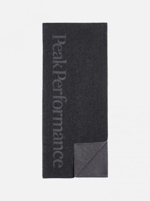 Peak Performance Wool Scarf Black