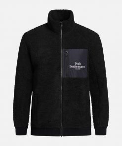 Peak Performance Original Pile Zip Jacket Men Black