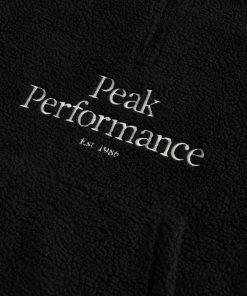 Peak Performance Original Pile Half Zip Men Black