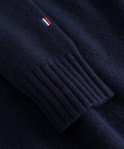 Les Deux Grant Turtleneck Wool Knit Dark Navy