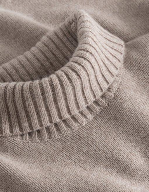 Les Deux Grant Turtleneck Wool Knit Dark Sand