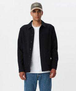 Les Deux Pascal Wool Hybrid Jacket Dark Navy