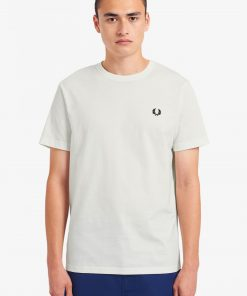 Fred Perry Crew Neck T-shirt Snow White