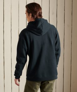 Superdry Core Logo Source Brushed Hoodie Eclipse Navy