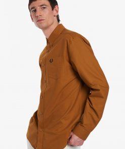 Fred Perry Oxford Shirt Dark Caramel
