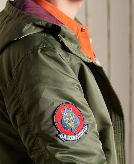 Superdry MA1 Hooded Bomber Jacket Surplus Goods Olive