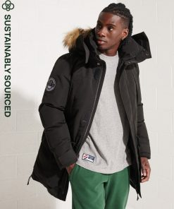 Superdry Code Everest Parka Coat Black