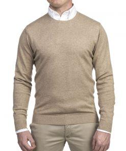 Hansen & Jacob Crewneck Sweater Alcantara E-P Beige
