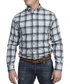 Hansen & Jacob Melton Big Square Shirt Blue