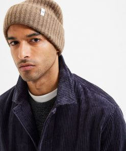 Selected Homme Merino Wool Beanie Coffee Liquer