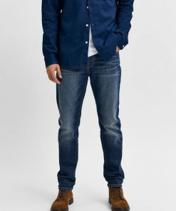 Selected Homme Slim Fit Leon 4074 Jeans Dark Blue Denim