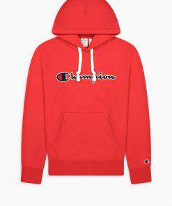 Champion Script Logo Hoodie Red