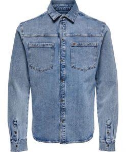 Only & Sons Lucas Life Denim Shirt Blue Denim