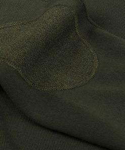 Stenströms Merino V-neck Elbow Patch Dark Green