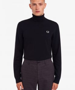 Fred Perry Roll Neck Jumper Black