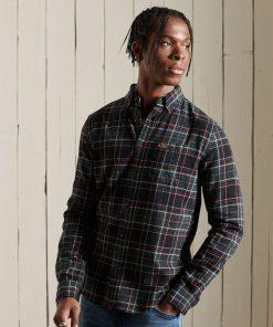 Superdry Heritage Lumberjack Shirt Kilburn Check Rifle Green