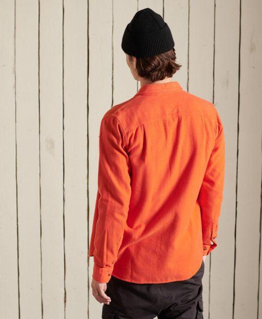 Superdry Trailsman Flannel Shirt Spiced Orange